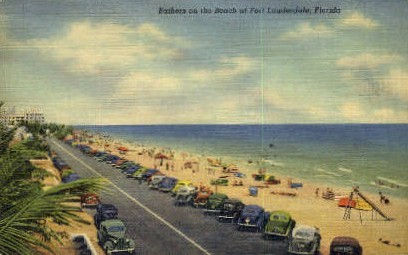 Beach - Fort Lauderdale, Florida FL Postcard