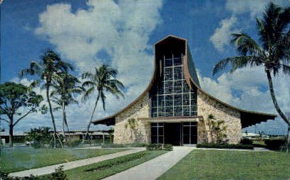 Congregational Church - Delray Beach, Florida FL Postcard