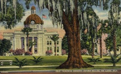 Court House - De Land, Florida FL Postcard