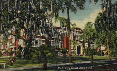 High School - De Land, Florida FL Postcard