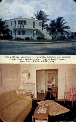 Villa Serena Apartments - Fort Lauderdale, Florida FL Postcard