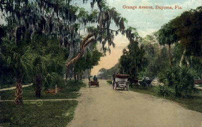 Orange Avenue - Daytona Beach, Florida FL Postcard