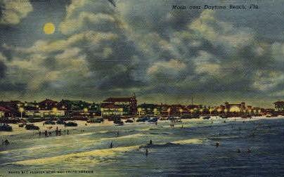 Moon - Daytona Beach, Florida FL Postcard