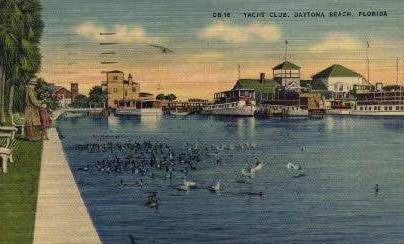 Yacht Club - Daytona Beach, Florida FL Postcard