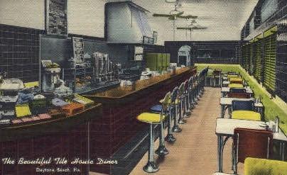 Tile House Diner - Daytona Beach, Florida FL Postcard