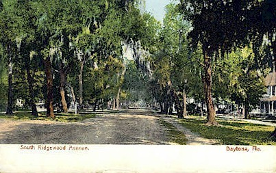 Ridgewood Avenue - Daytona Beach, Florida FL Postcard