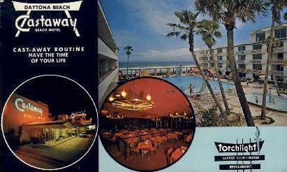 Castaway Beach Motel - Daytona Beach, Florida FL Postcard