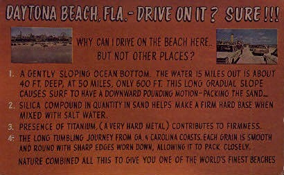 Drive on the Beach - Daytona Beach, Florida FL Postcard
