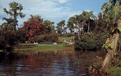 Walkways - Cypress Gardens, Florida FL Postcard