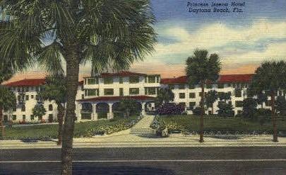 Princess Issena Hotel - Daytona Beach, Florida FL Postcard