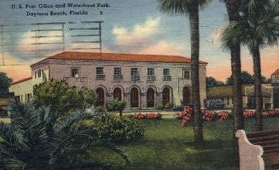 Post Office - Daytona Beach, Florida FL Postcard