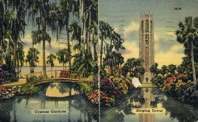 Singing Tower - Cypress Gardens, Florida FL Postcard