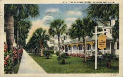 El Cortez Hotel - Daytona Beach, Florida FL Postcard
