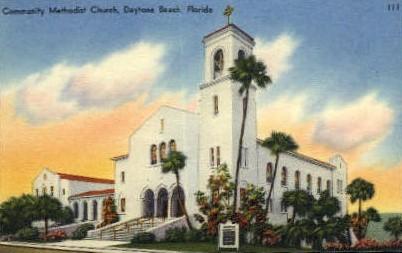 Community Methodist Church - Daytona Beach, Florida FL Postcard