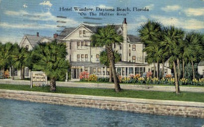 Hotel Windsor - Daytona Beach, Florida FL Postcard