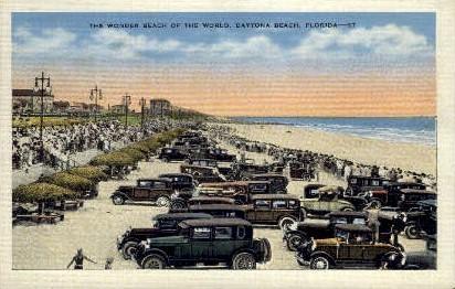 Wonder Beach - Daytona Beach, Florida FL Postcard