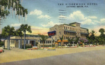 Ridgewood Hotel - Daytona Beach, Florida FL Postcard