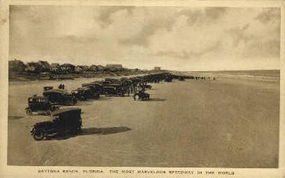 Speedway Beach - Daytona Beach, Florida FL Postcard