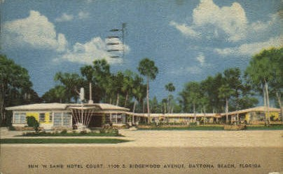 Sun 'N Sand Hotel - Daytona Beach, Florida FL Postcard