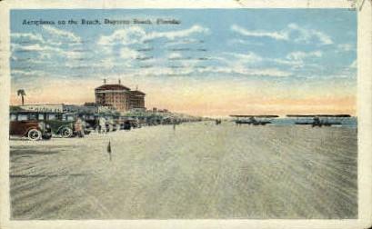 Aeroplanes on the Beach - Daytona Beach, Florida FL Postcard