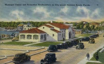 Municipal Casino - Daytona Beach, Florida FL Postcard