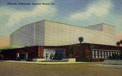 Peabody Auditorium - Daytona Beach, Florida FL Postcard