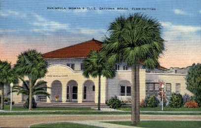 Peninsula Woman's Club - Daytona Beach, Florida FL Postcard