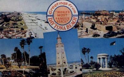 Beach - Daytona Beach, Florida FL Postcard