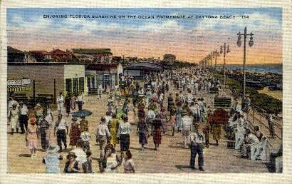 Ocean Front Park - Daytona Beach, Florida FL Postcard