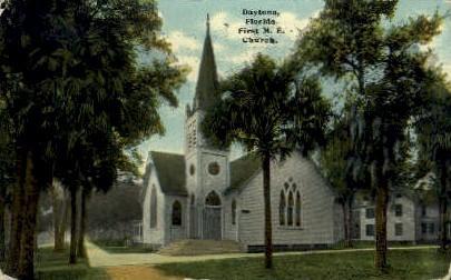 First M. E. Church - Daytona Beach, Florida FL Postcard
