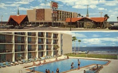 Howard Johnson Motor Lodge - Daytona Beach, Florida FL Postcard
