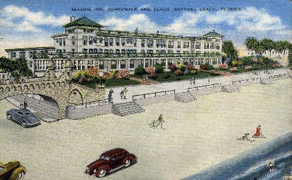 Seaside Inn - Daytona Beach, Florida FL Postcard