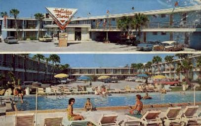 Holiday Shores Motel - Daytona Beach, Florida FL Postcard