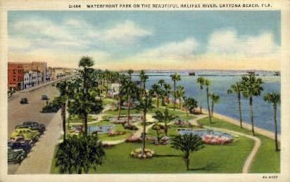 Waterfront Park - Daytona Beach, Florida FL Postcard