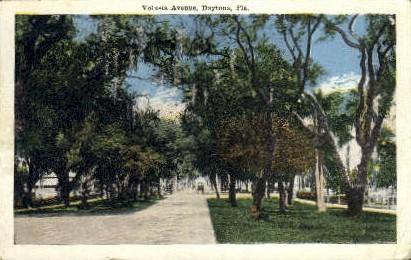 Volusia Avenue - Daytona Beach, Florida FL Postcard