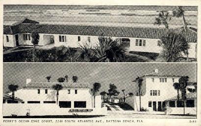 Ocean-Edge Court - Daytona Beach, Florida FL Postcard