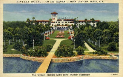 Riviera Hotel - Daytona Beach, Florida FL Postcard