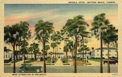 Osceola Hotel - Daytona Beach, Florida FL Postcard