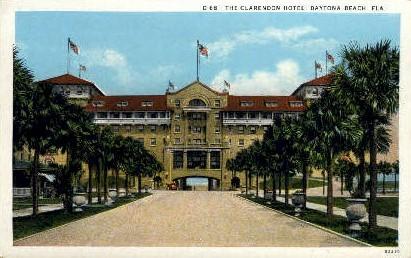Clarendon Hotel - Daytona Beach, Florida FL Postcard