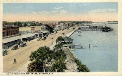 Esplanade - Daytona Beach, Florida FL Postcard