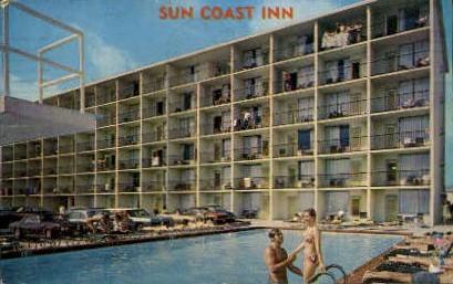 Sun Coast Inn - Daytona Beach, Florida FL Postcard