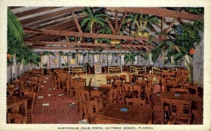 martinique Palm Room - Daytona Beach, Florida FL Postcard