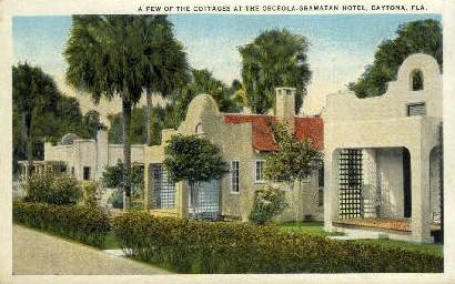 Osceola-Gramatan Hotel - Daytona Beach, Florida FL Postcard
