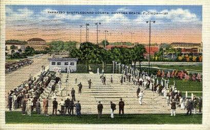 Terrazzo Shuffleboard Courts - Daytona Beach, Florida FL Postcard