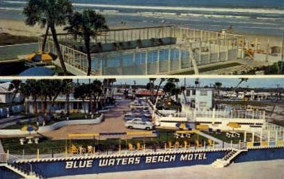 Blue Waters Beach Motel - Daytona Beach, Florida FL Postcard