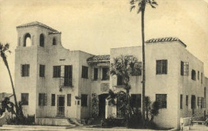 Tower Apartments - Daytona Beach, Florida FL Postcard