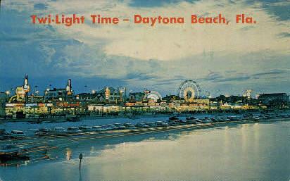 Twi-Light Time - Daytona Beach, Florida FL Postcard