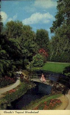 Tropical Wonderland - Cypress Gardens, Florida FL Postcard