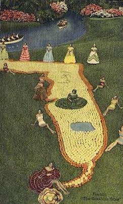 Sunshine State - Cypress Gardens, Florida FL Postcard
