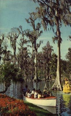 Visitors - Cypress Gardens, Florida FL Postcard